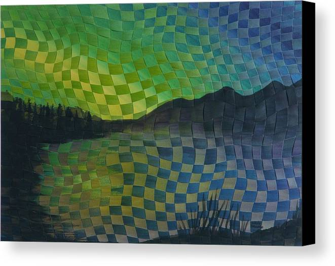 Landscape Canvas Print featuring the painting Aurora by Linda L Doucette
