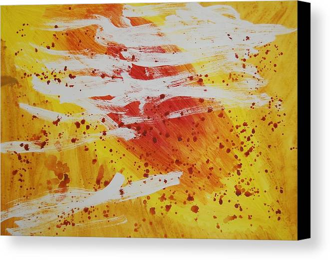 Abstract Canvas Print featuring the painting Bailando En El Sol by Lauren Luna