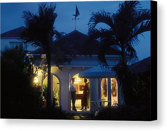 Romantic Canvas Print featuring the photograph Barbados Villa by Carl Purcell