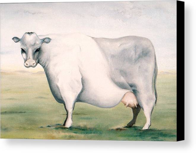 Beef Canvas Print featuring the painting Beef Holocaust I by Mark Cawood