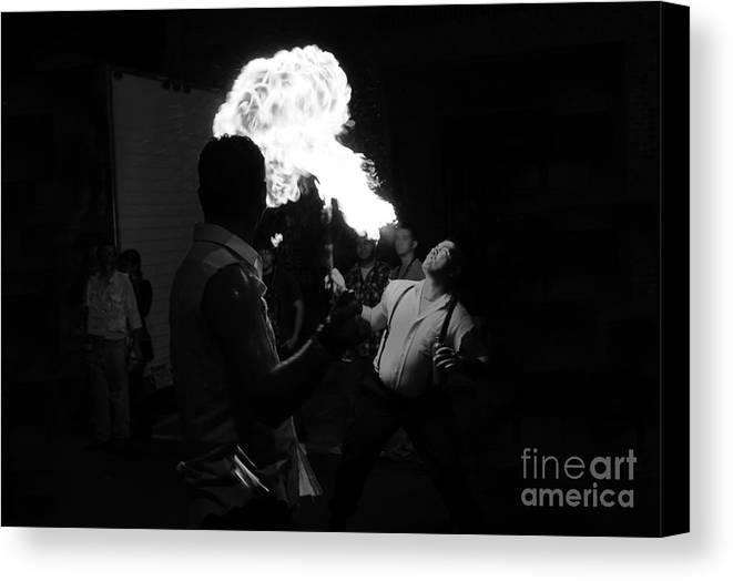 Fire Canvas Print featuring the photograph Blowing Fire by David Lee Thompson