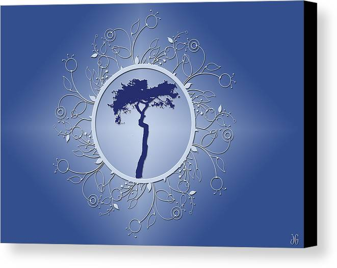 Tree Canvas Print featuring the photograph Blue Tree Of Life by JoAnn Grafton