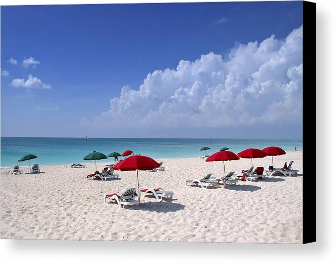 Ocean Canvas Print featuring the photograph Caribbean Blue by Stephen Anderson