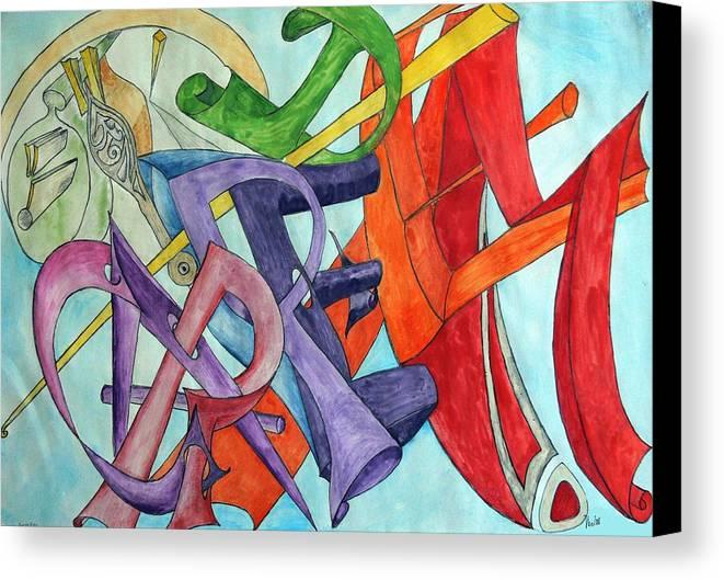 Carpe Diem Canvas Print featuring the painting Carpe Diem by Helmut Rottler