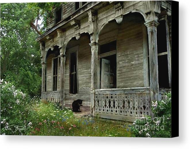 Haunted House Canvas Print featuring the photograph Cat House 2 by Tom Straub