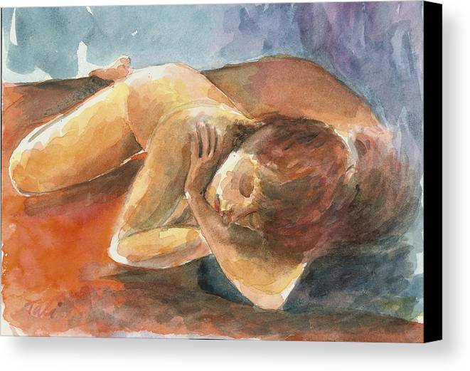 Dream Canvas Print featuring the painting Chalom Parua by Tali Farchi