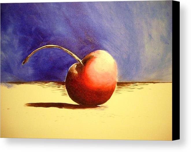Cherry Art Canvas Print featuring the painting Cherry 41 by Ruben Barbosa