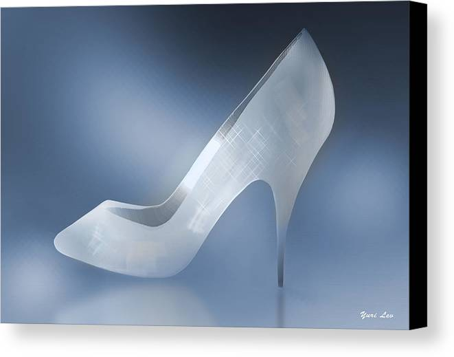 Shoes Canvas Print featuring the photograph Cinderella's Slipper by Yuri Lev