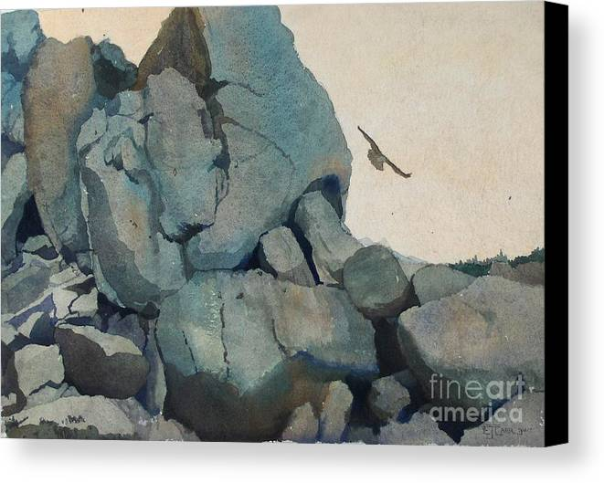 Landscape Canvas Print featuring the painting Cleft For Me by Elizabeth Carr