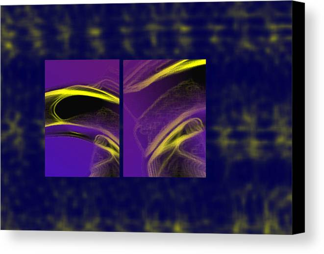 Abstract Canvas Print featuring the digital art Cobra by Steve Karol