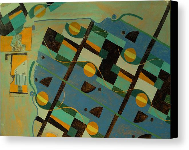 Abstract Art Canvas Print featuring the painting Composition Xxi 07 by Maria Parmo