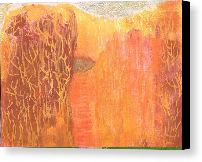 Curious Canvas Print featuring the mixed media Curious Cove by Anne-Elizabeth Whiteway