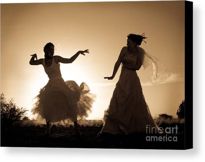 Dancing Girls Canvas Print featuring the photograph Dancing Girls by Scott Sawyer