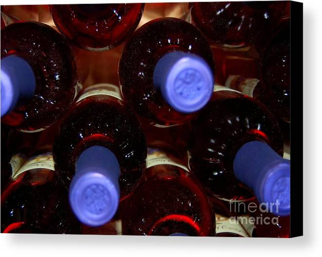 Wine Canvas Print featuring the photograph De-vine Wine by Debbi Granruth