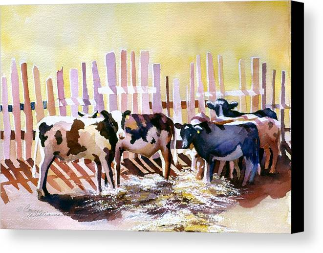 Animal Canvas Print featuring the painting Fenced In by Connie Williams