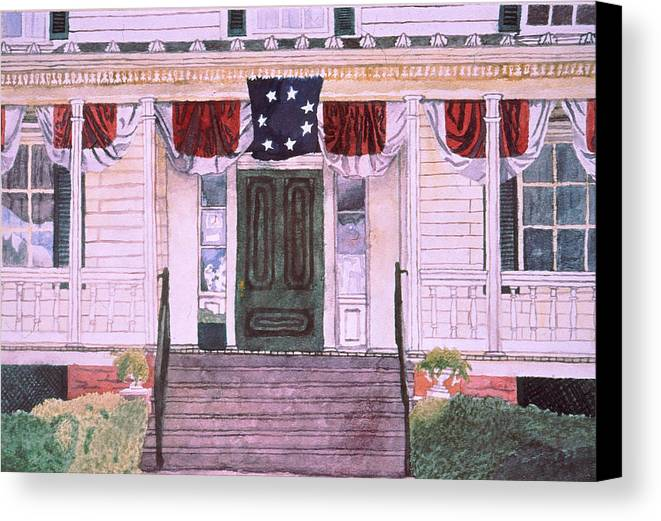 White House Canvas Print featuring the painting First White House Of The Confederacy by Beth Parrish