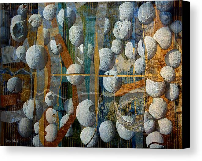 Photopainting Canvas Print featuring the digital art Floating Elements by Helga Schmitt