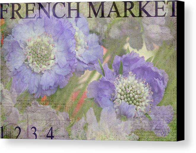 French Market Canvas Print featuring the photograph French Market Series R by Rebecca Cozart