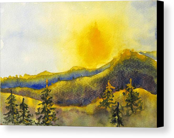 Sunset Canvas Print featuring the painting Gassaway Sunset by Libby Cagle