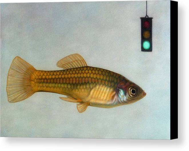 Fish Canvas Print featuring the painting Go Fish by James W Johnson