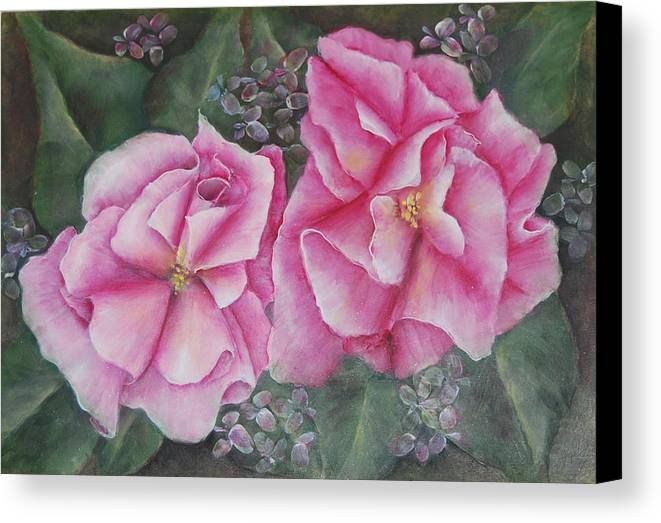Floral Canvas Print featuring the painting Grace by Maureen Baker