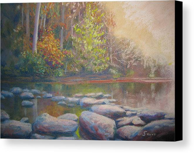 Fall Canvas Print featuring the painting Hint Of Autumn by Shirley Braithwaite Hunt