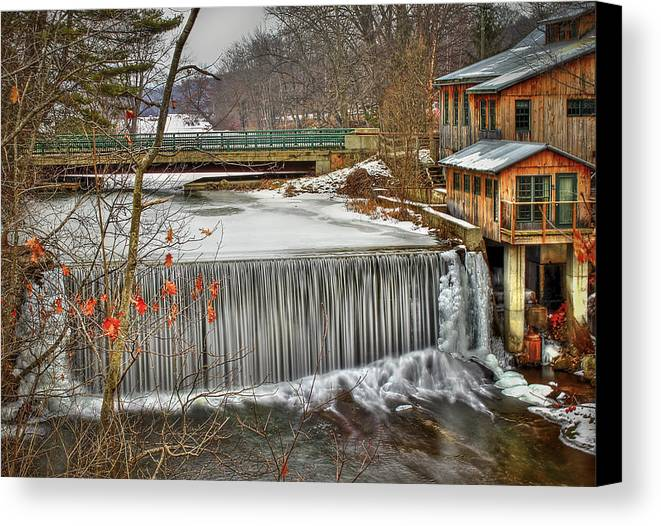 Blur Canvas Print featuring the photograph Icy Conditions by Evelina Kremsdorf