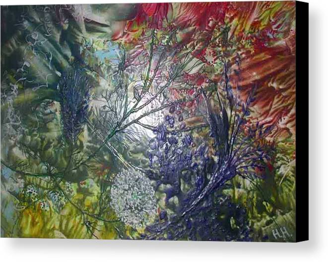 Abstract Canvas Print featuring the painting In The Forest by Heather Hennick