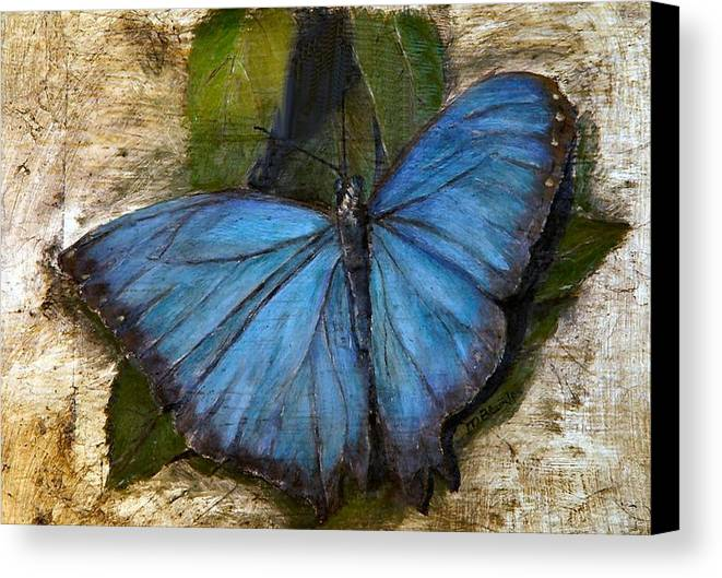 Butterfly Canvas Print featuring the painting Jewel Of The Garden by Merle Blair