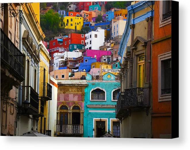 Architecture Canvas Print featuring the photograph Juegos In Guanajuato by Skip Hunt