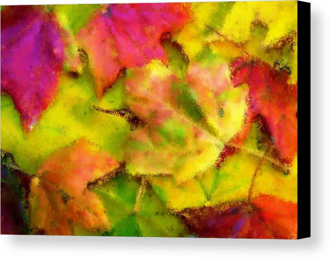 Fall Canvas Print featuring the painting Leaves Of Fall by Harry Dusenberg