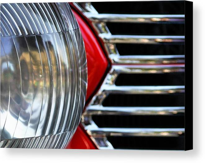Car Canvas Print featuring the photograph Light And Grill by Dan Holm