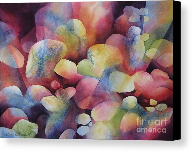 Abstract Canvas Print featuring the painting Luminosity by Deborah Ronglien