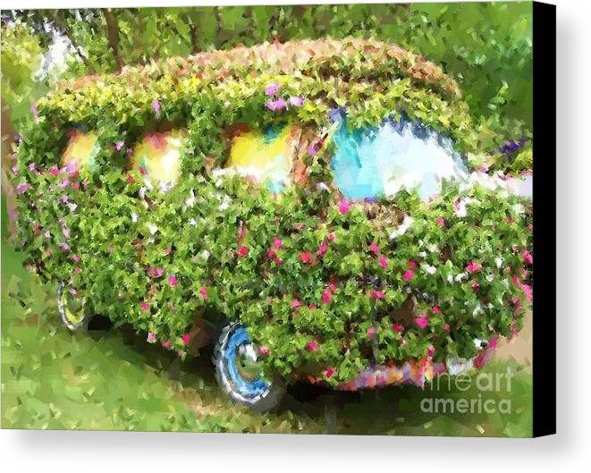 Volkswagen Canvas Print featuring the photograph Magic Bus by Debbi Granruth