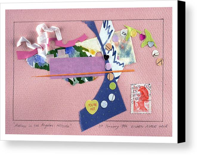 Collage Canvas Print featuring the mixed media Matisse In Los Angeles by Eileen Hale