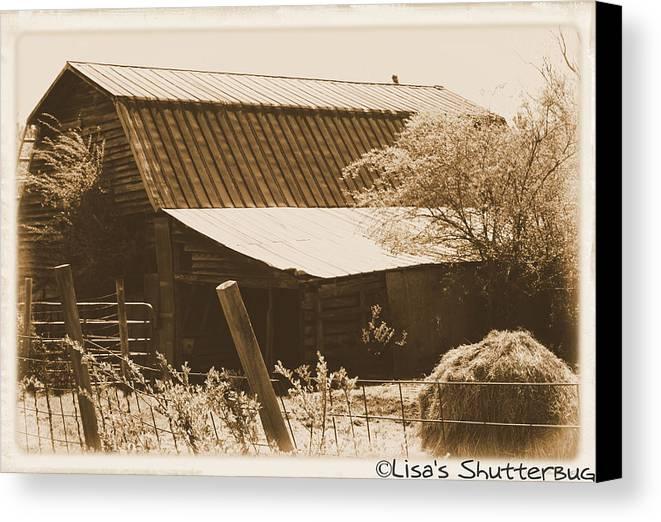 Barn Canvas Print featuring the photograph Mcdonald 1 by Lisa Johnston