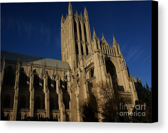Cathedral Canvas Print featuring the photograph National Cathedral 3 by David Pettit