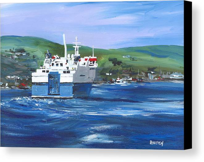 Stromness Canvas Print featuring the painting North Link - Stromness by Brigitte Hayden
