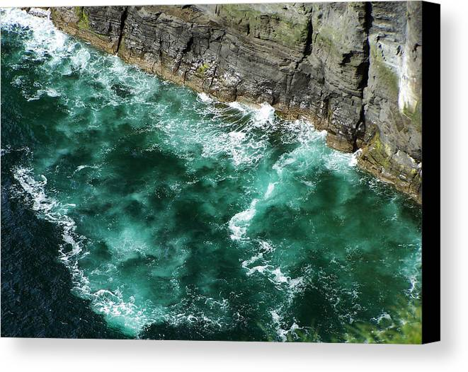 Irish Canvas Print featuring the photograph Nowhere To Go Cliffs Of Moher Ireland by Teresa Mucha