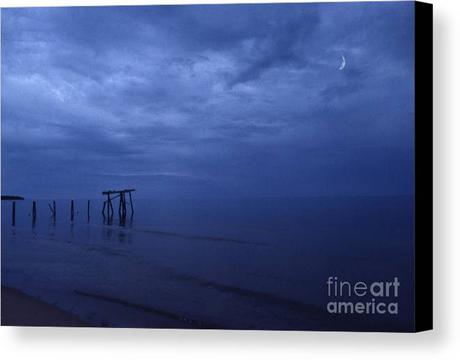 Pier Canvas Print featuring the photograph Old Fishing Pier by Timothy Johnson