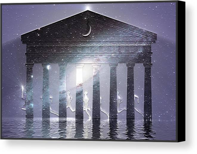 Symbolic Digital Art Canvas Print featuring the digital art Olympia by Harald Dastis