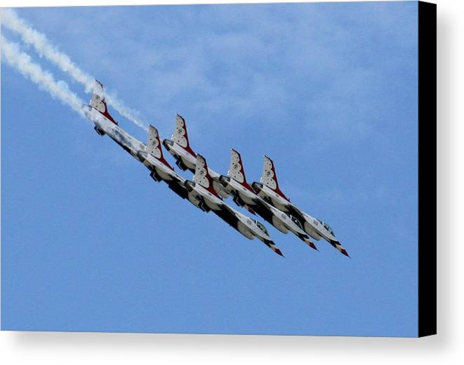 Airplane Canvas Print featuring the photograph One Big Mess Of Trouble by David Dunham
