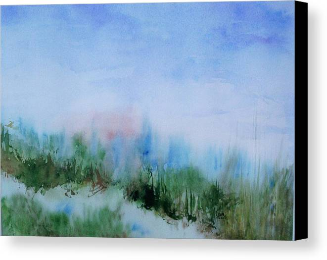Landscape Canvas Print featuring the painting Overlook by Suzanne Udell Levinger