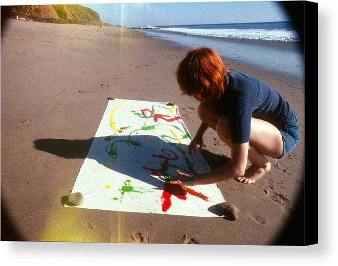 Sand Canvas Print featuring the photograph Painting In Sand by Pamela Maloney