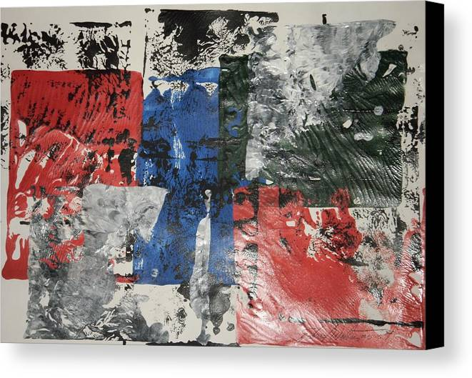 Abstract Canvas Print featuring the painting Paper Target by Edward Wolverton