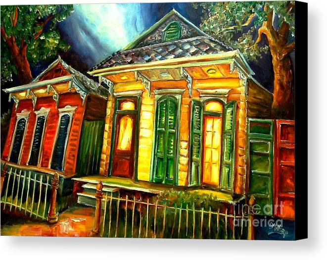 New Orleans Canvas Print featuring the painting Partners by Diane Millsap