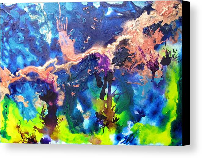 Blue Canvas Print featuring the painting Paulette by Jess Thorsen