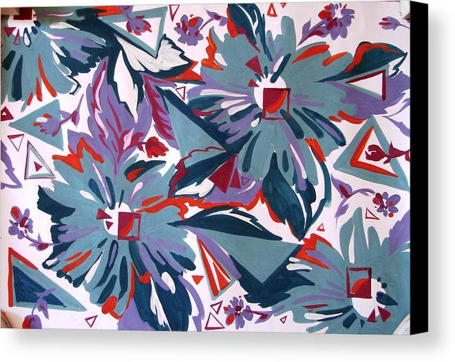 Flower Canvas Print featuring the drawing Pull Out Eye by Kseniya Nelasova