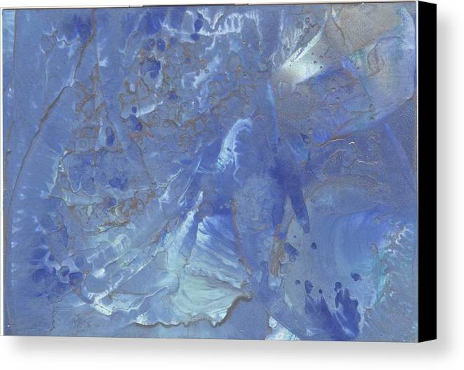 Encaustic Canvas Print featuring the painting Quantum Joy by Cathy Minerva