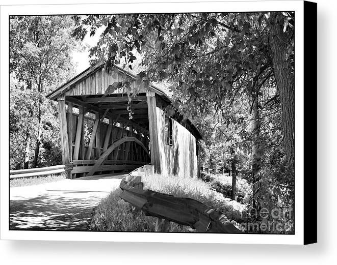 Cove Canvas Print featuring the photograph Quinlan Bridge by Deborah Benoit